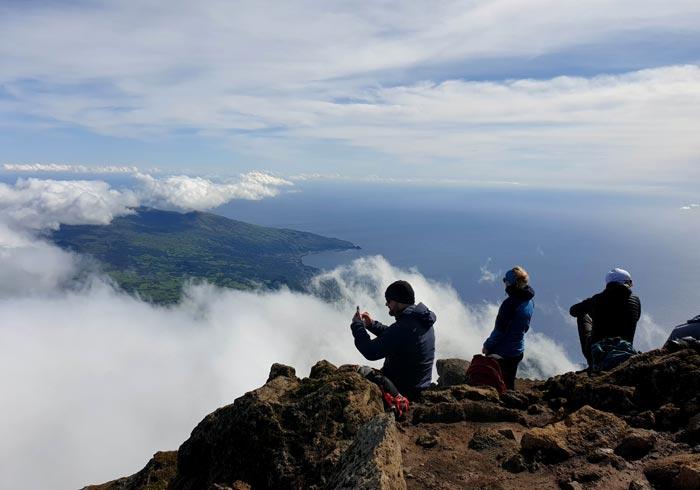 Panorámica del este de la isla de Pico desde el 'Piquinho'
