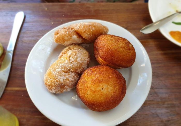 Dulces del restaurante Lukmaan