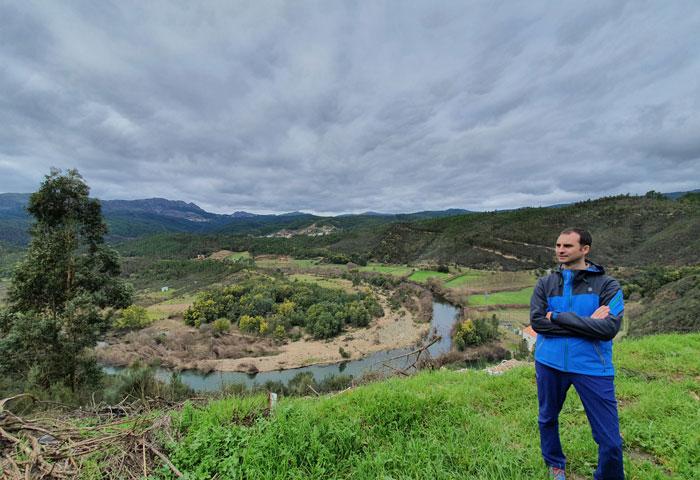 Meandro que forma el río Zêzere en Janeiro de Cima