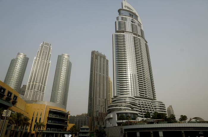 Rascacielos del centro financiero de Dubai