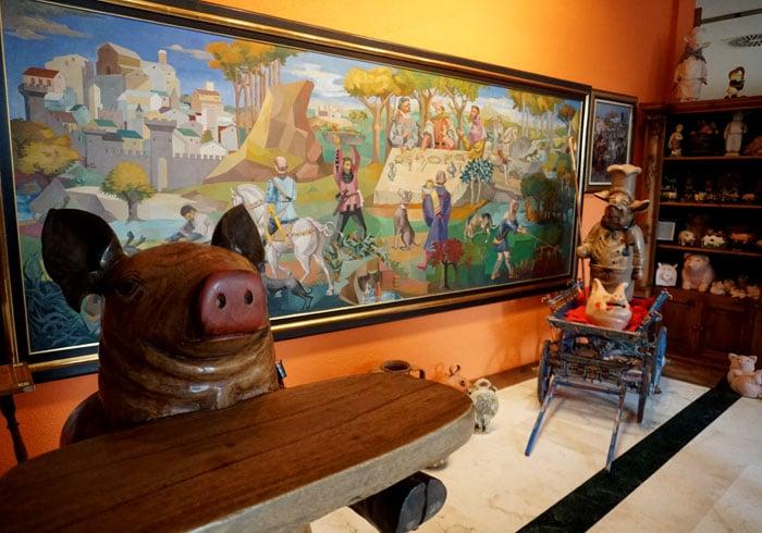 Cuadro de Vela Zanetti en el Museo del Cerdo