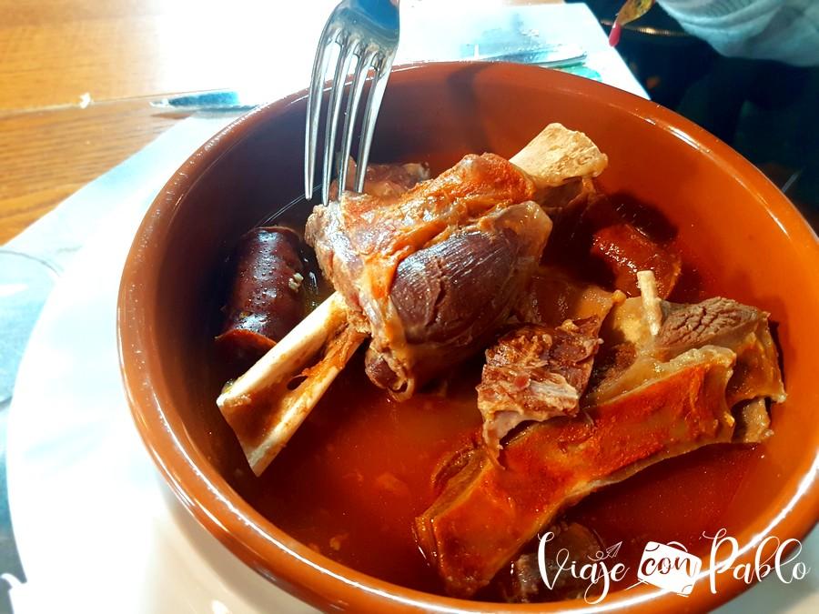 Cecina de chivo del restaurante Las Rocas