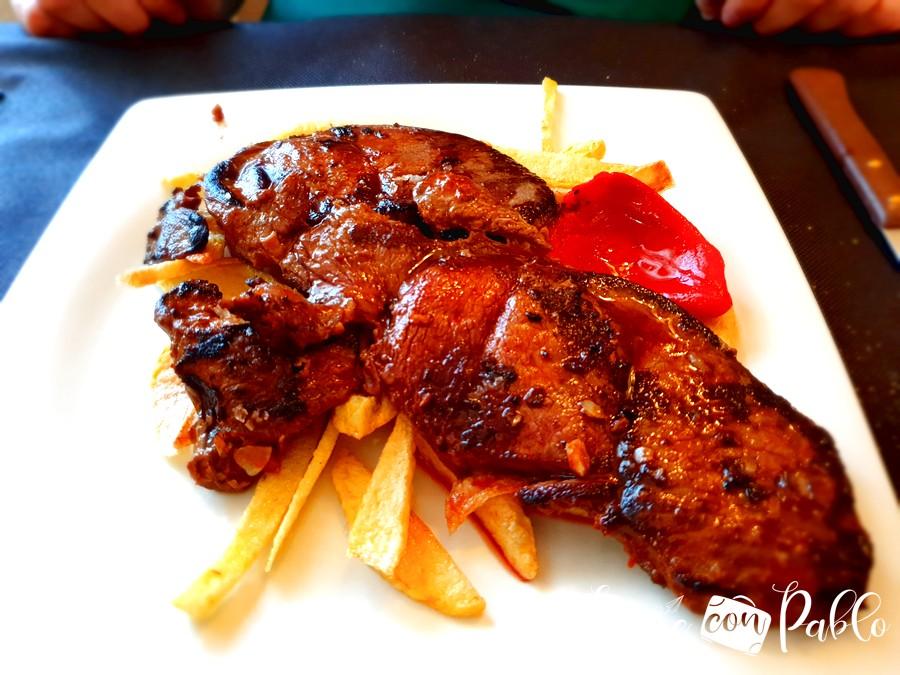 Filete de venado del restaurante Resthy