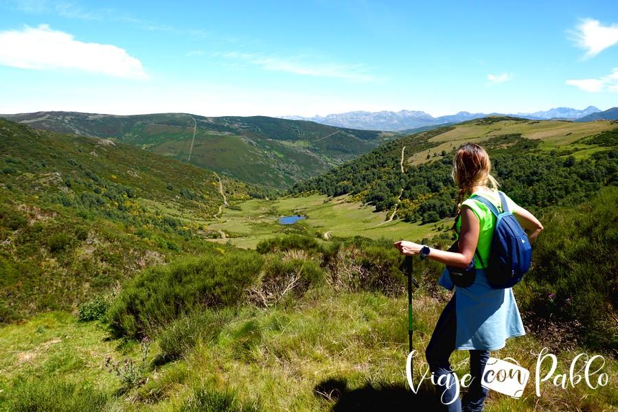 Paisaje en la ruta de las Fuentes del Omaña