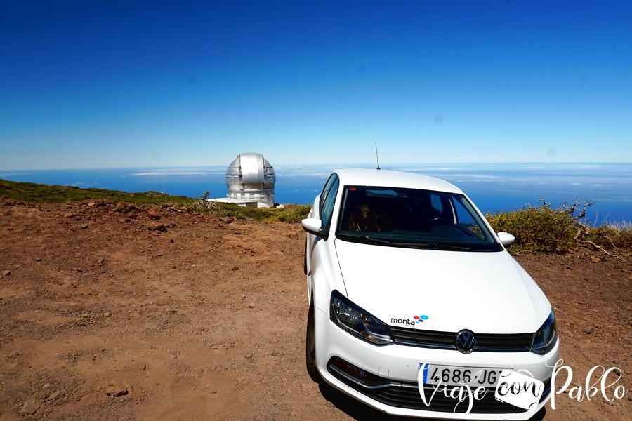Nuestro coche de alquiler en La Palma