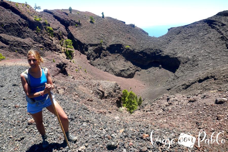 Cráter del volcán Martín