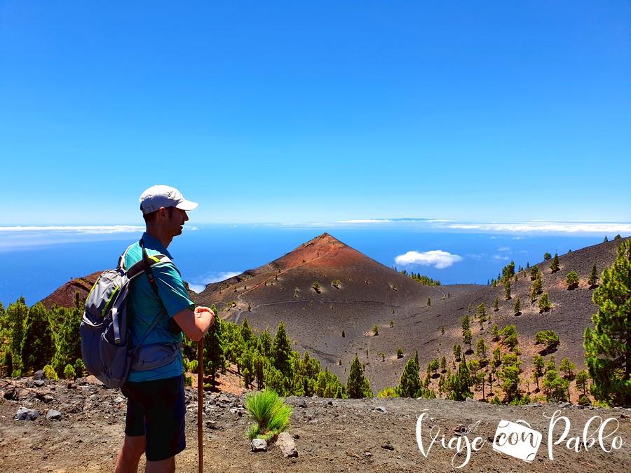 Vista del volcán Martín