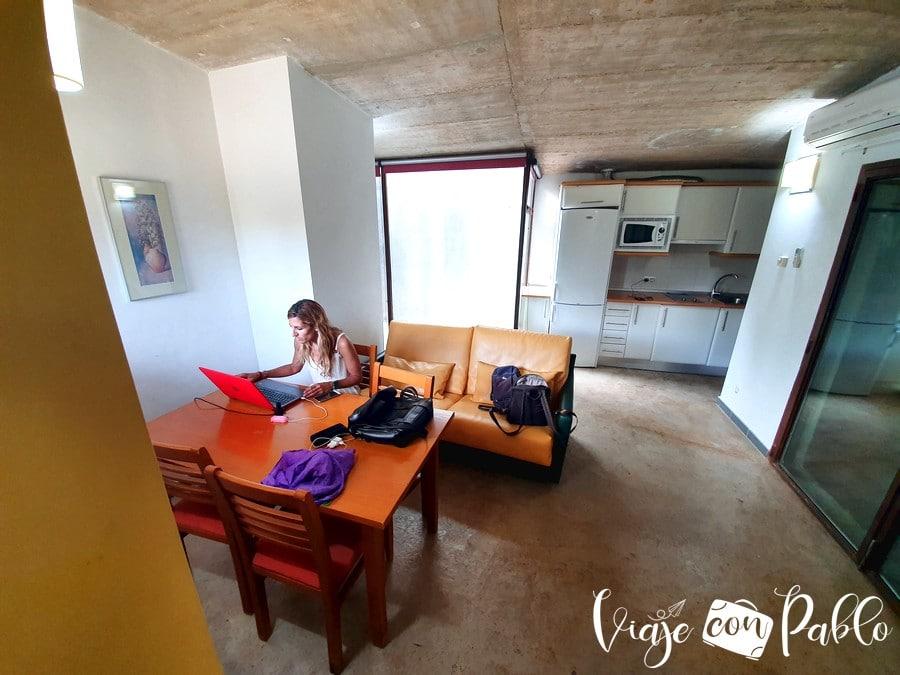 Nuestro bungaló en el camping Aguas Claras