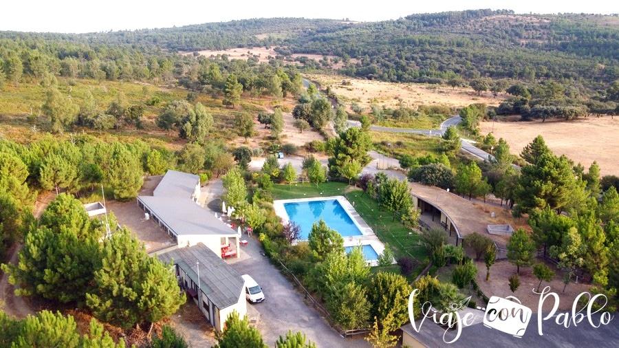Vista aérea del camping Aguas Claras