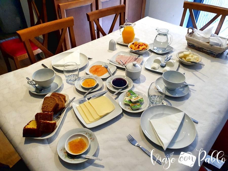 Desayuno de la Casa da Trigueira