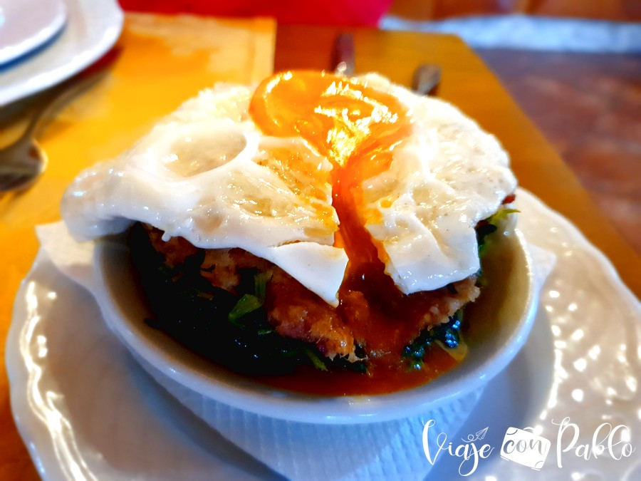 Timbal de huevo de Tasquinha da Portela