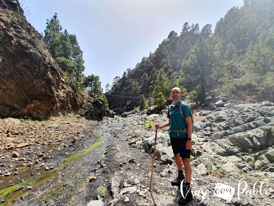Barranco de las Angustias ruta de la caldera de taburiente