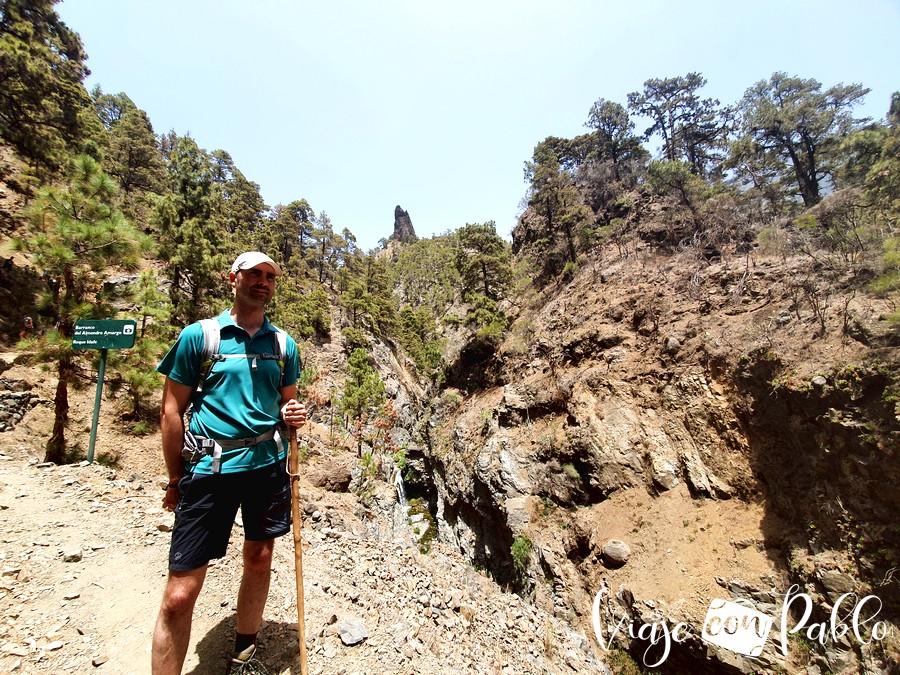 Con el Roque Idafe al fondo
