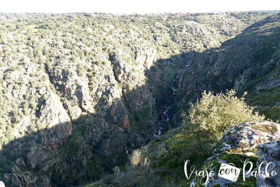 Desembocadura del arroyo del Pisón en el Duero desde el mirador de Las Barrancas