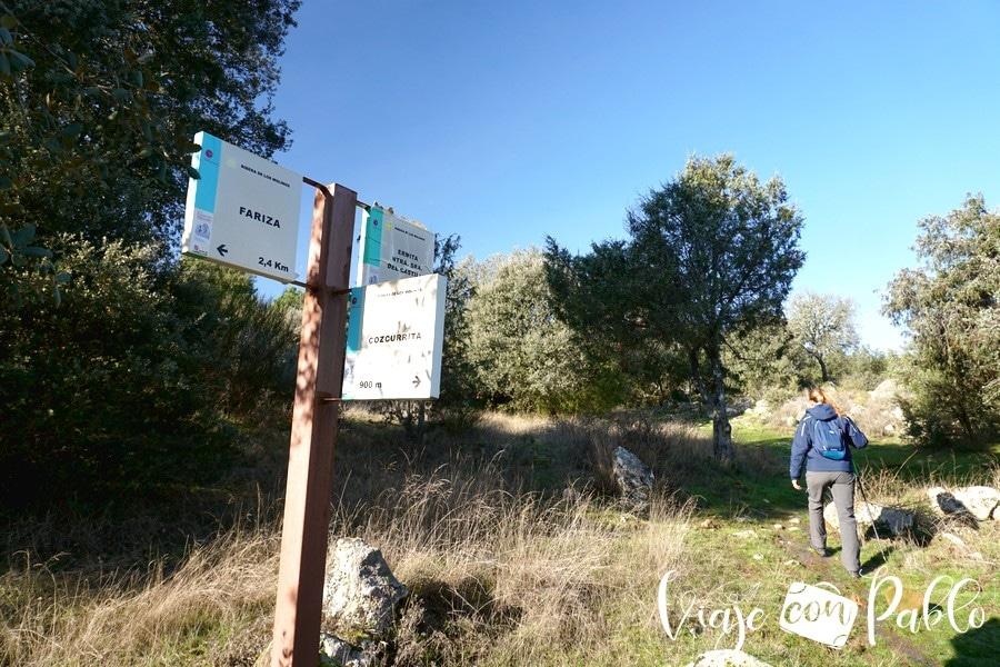 Bifurcación donde hay que tomar la dirección de la ermita