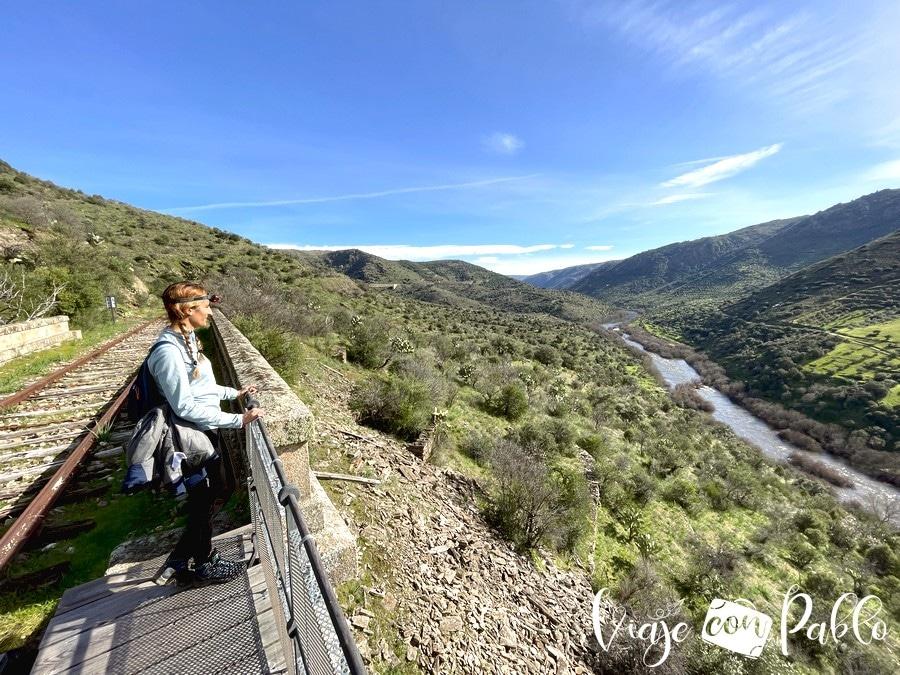 El río Águeda visto desde el Camino de Hierro