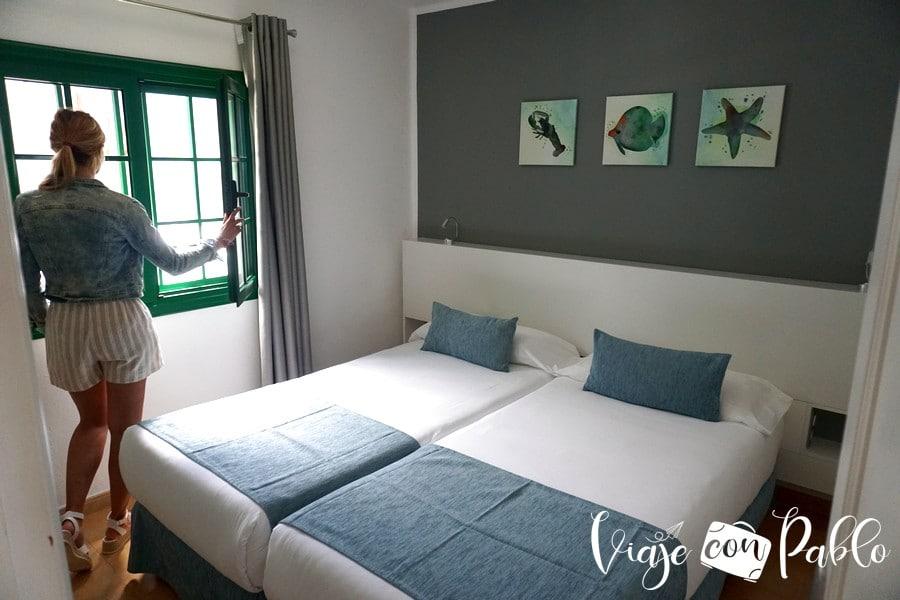 Dormitorio de uno de los apartamentos de Hyde Park Lane