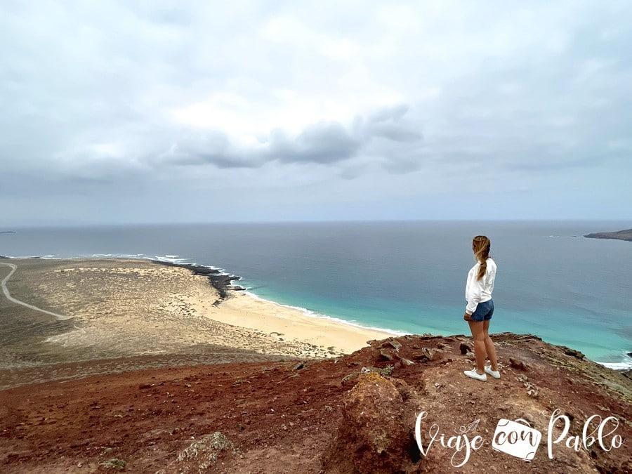 Playa de las Conchas desde Montaña Bermeja en La Graciosa