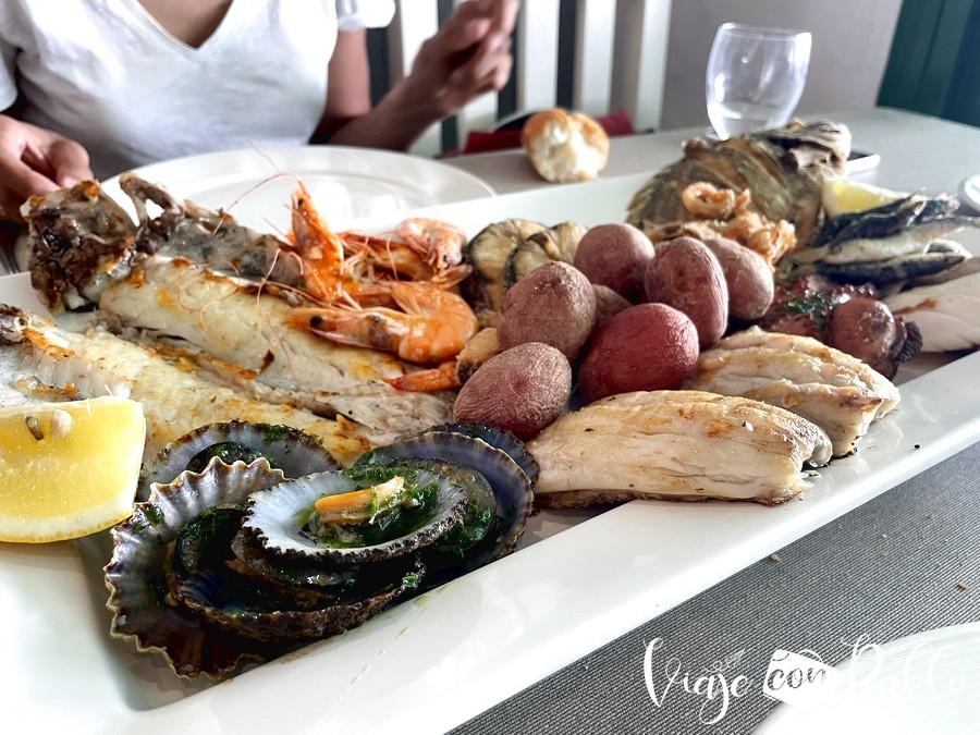 Parrillada de pescado del restaurante El Amanecer
