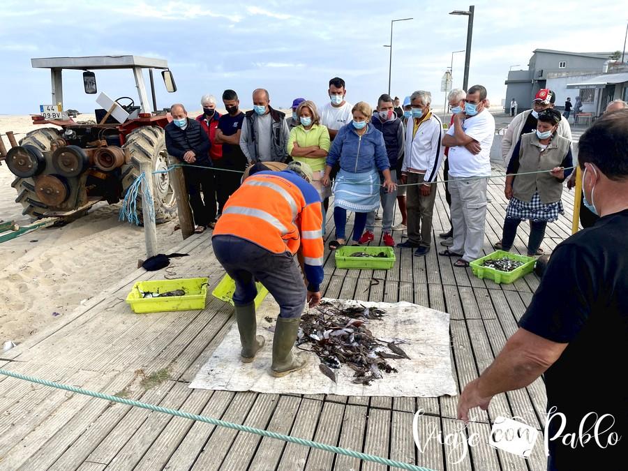 Lonja en el barrio pesquero de Espinho