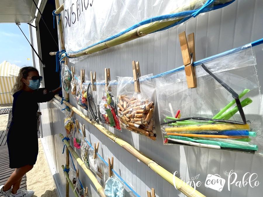 Espacio de sensibilización ambiental en la praia da Frente Azul