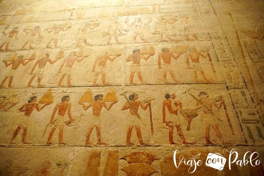 Detalle de la mastaba de Ti
