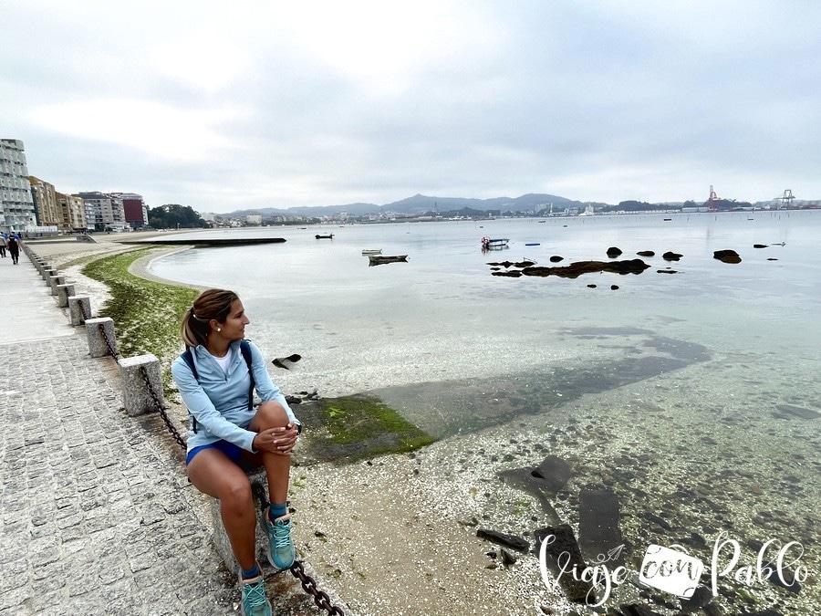 Paseo marítimo de Carril donde tomamos en kayak para visitar Cortegada