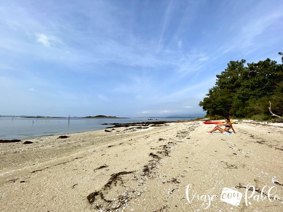 playa suroeste de Cortegada